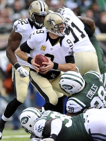 Brees Jets sack