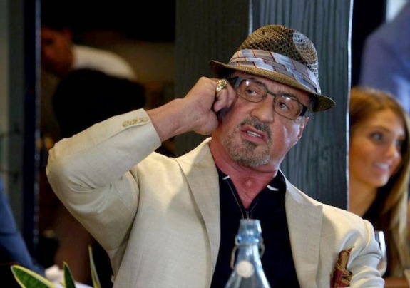 Stallone and hat