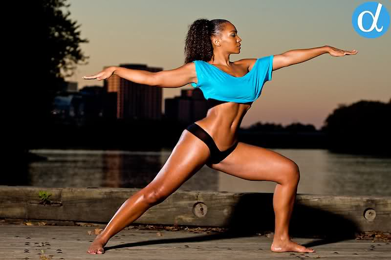Fit black woman